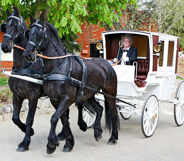 Beispiel: Das besondere Etwas für Ihre Hochzeit, Foto: Hochzeitskutschen Hessen.