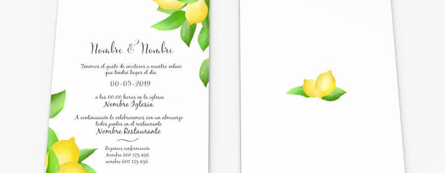 invitaciones de boda con limones