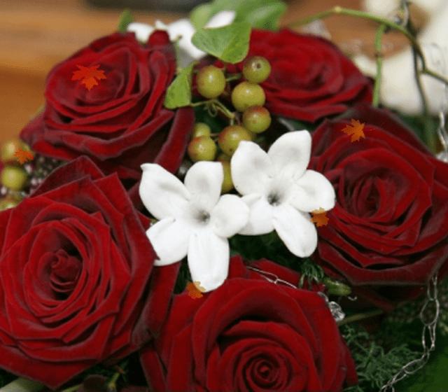 Beispiel: Blumenstrauß, Foto: Bader Blumen-Center.