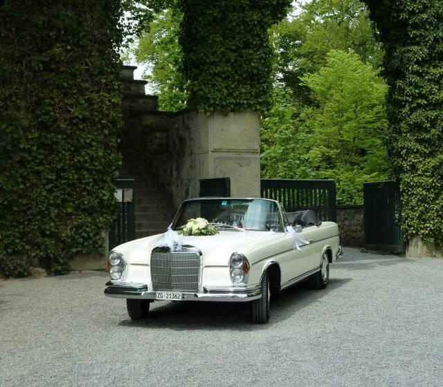 Beispiel: Ihr Hochzeitsauto, Foto: Die Hochzeitsfahrt.