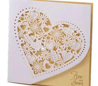 Beispiel: Hochzeitskarte, Foto: easycards.ch.