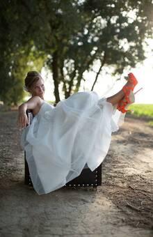 Unsere Braut mit ihren Lucky Shoes!