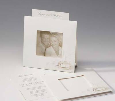 Beispiel: Hochzeitseinladung mit Foto, Foto: Druckerei Rokos.