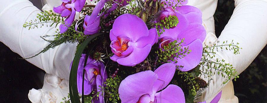 Beispiel: Ihr persönlicher Brautstrauß, Foto: Blumenhaus Mäglin.