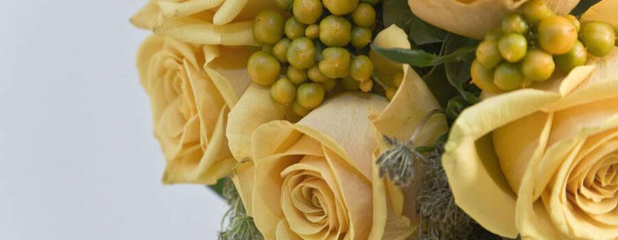 Beispiel: Hochzeitsstrauß, Foto: Blumen Maarsen.