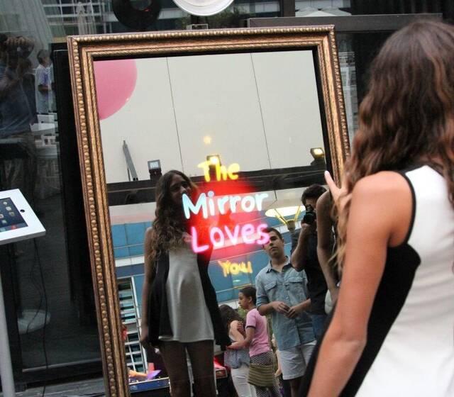 Location borne photos miroir