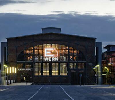 Beispiel: Außenbereich der Lokalität, Foto: E Werk Saarbrücken.