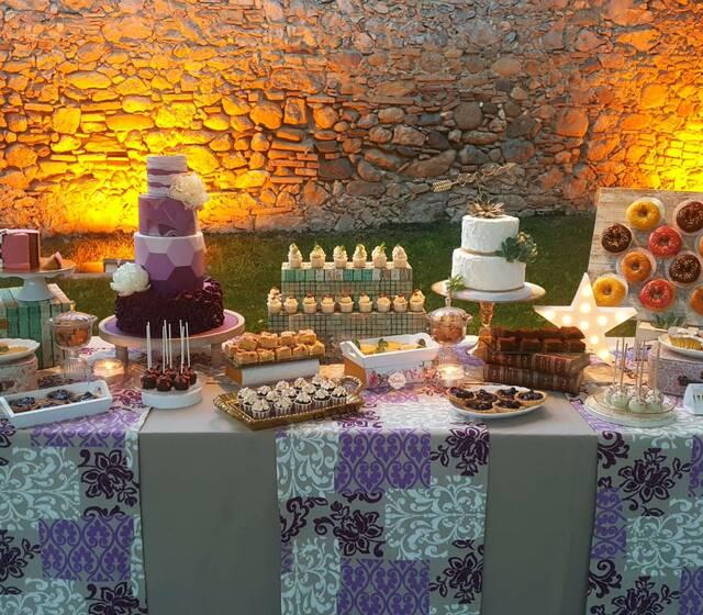 Bimba's Cakes mesa dulce romantica
