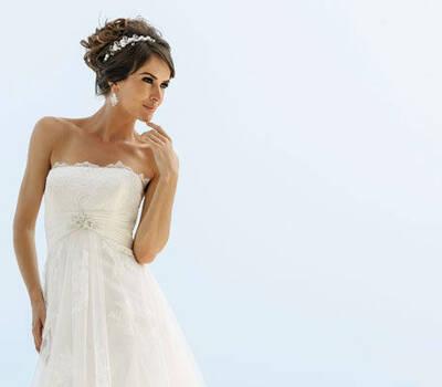 Beispiel: Brautmode Marylise, Foto: Silberherz Brautmoden.