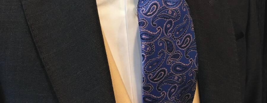 Corbatas bajo pedido paisley 2017 -Trajes Guzmán
