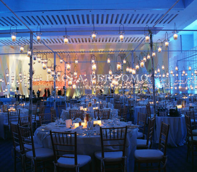 Decoración y ambientación de bodas con iluminación. Foto: Paola Perdomo
