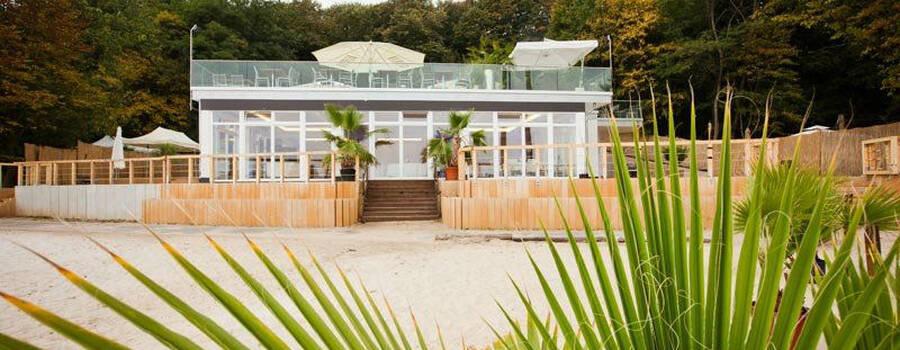 Ansicht vom Strand, Foto: Seepavillon.