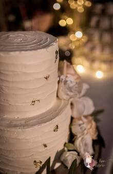 Wedding cake floral, rustique