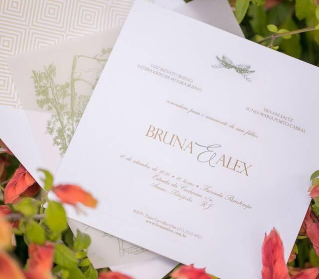 Bruna e Alex - Convite (foto: Rodrigo Sack)