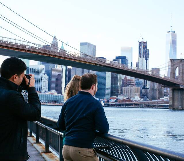 A behind the scenes snap of New York