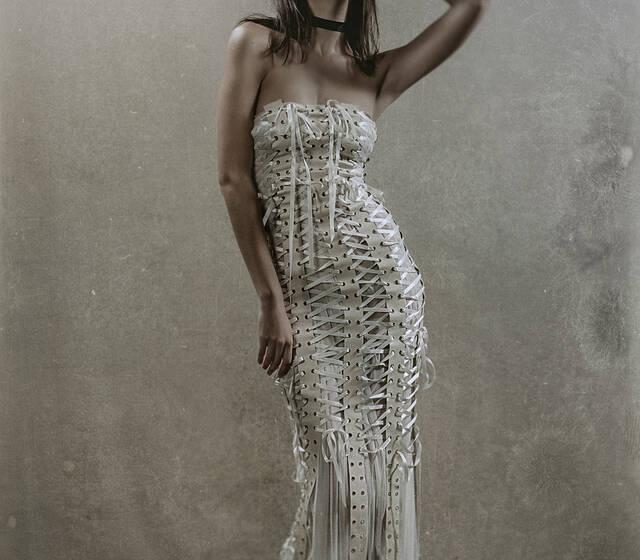 Gonzales Vestido de novia KASSANDRAen piel y tul italianos