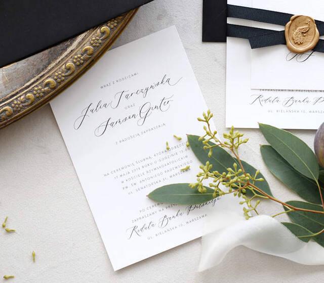 Zaproszenia ślubne - kolekcja Chic