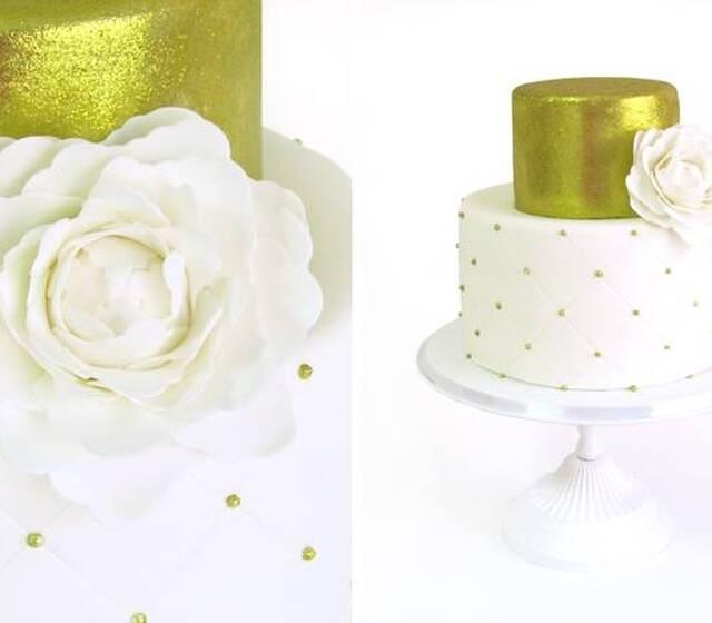 Flower Cake_Gold