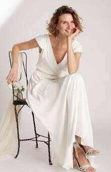 Robe de mariée longue dos-nu cache coeur éthique et sur-mesure DREAMY  - - Myphilosophy Créatrice de robes de mariée