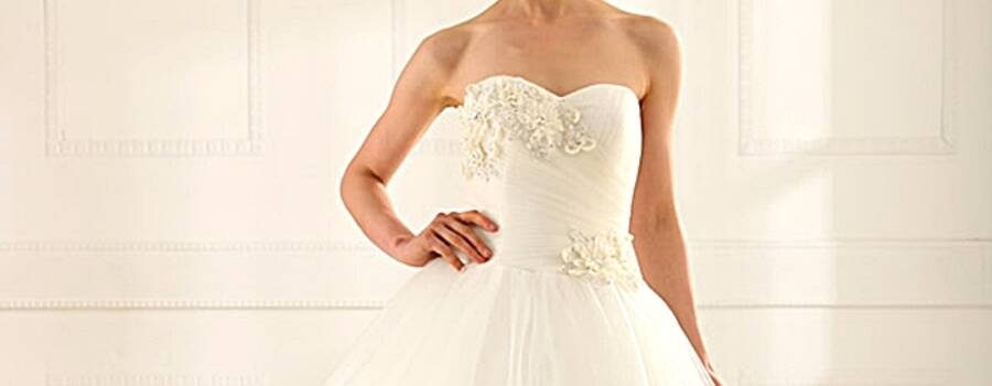 Beispiel: Brautkleid Pure 01, Foto: Loreley - Dresses for the Moment.