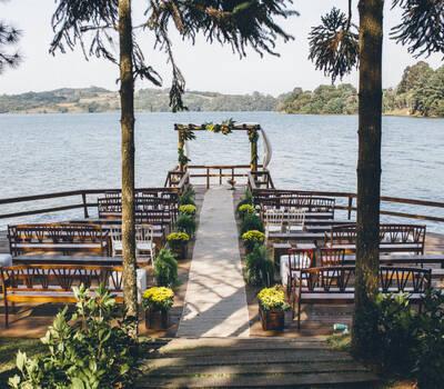 Espaço Belvedere - Cerimonia no Deck do Lago