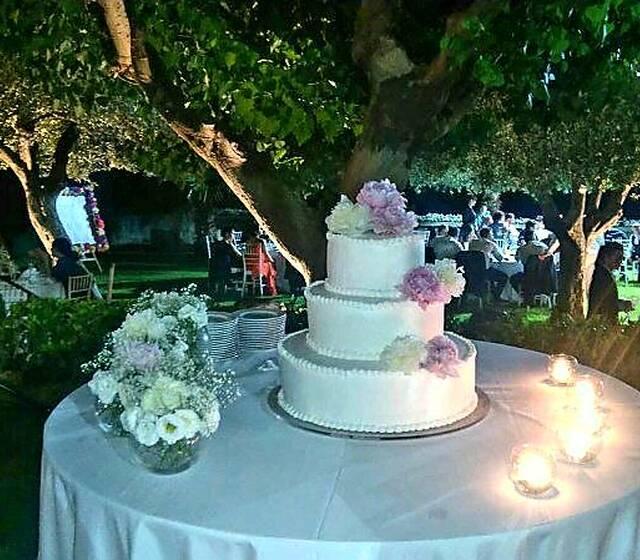 Tavoli torta nuziale