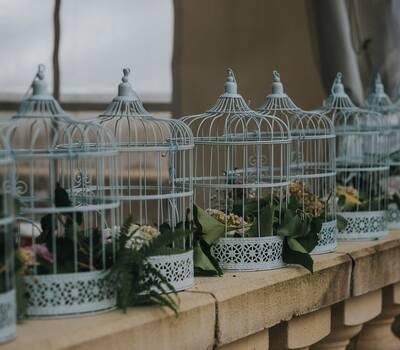 les cages fleuries, mariage champêtre