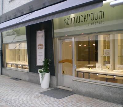 Unser Geschäft mit Eingang in der Goldstraße.