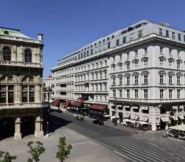 Beispiel: Hotel Sacher Aussenansicht, Foto: Hotel Sacher.