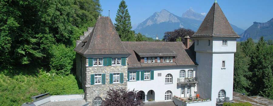 Beispiel: Außenansicht, Foto: Hotel Schloss Ragaz.