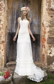 Vestido de novia YolanCris para Novias Pilar Gil Logroño.