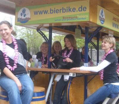 Beispiel: Junggesellinnenabschied, Foto: BierBike Braunschweig.