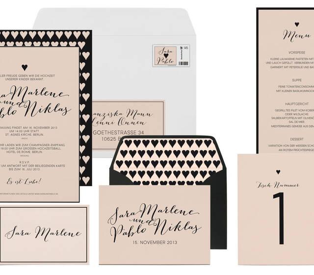 """Hochzeitskarten Ready-to-Order Kollektion """"Heartbeat"""", Foto: Paper & Soul."""