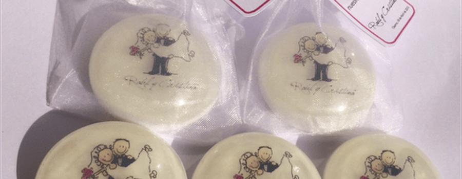 Jabones de Matrimonio 28 gr. personalizados