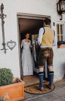 Herrentrachtenweste aus Samt und Wolle, Vorder- und Rückseite unterschiedlich gestaltet