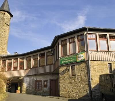 Beispiel: Restaurant Vorderansicht, Foto: Schlossterrasse.
