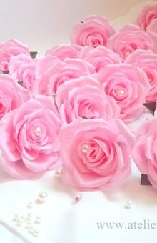 Roses perles en crépon