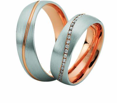 Beispiel: Trauringe Bicolor, Foto: Juwelier Uhren Görde.