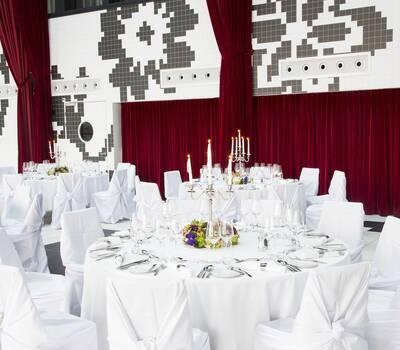 Kameha Dome - White Wedding Gala Setup
