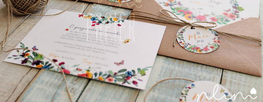 convite motivo floral