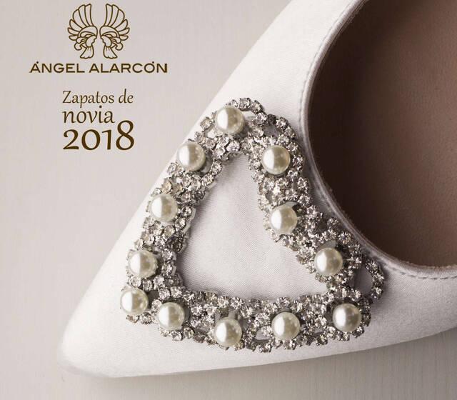 Zapatos de novia 2018 Angel Alarcon. Zapatos hechos en España. Made in Spain
