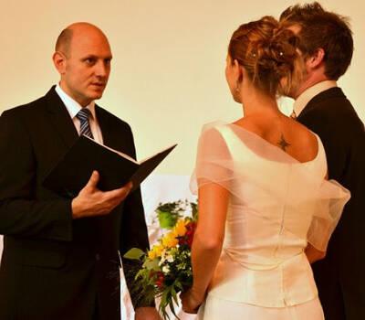 Beispiel: Während der Trauung, Foto: Hochzeitscouch.ch.