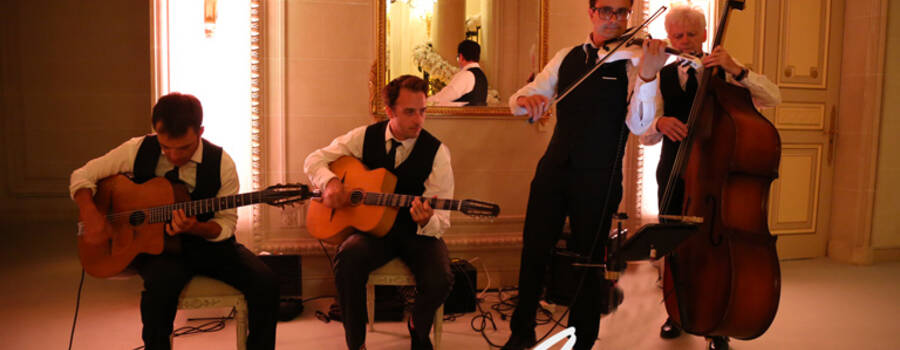Groupe jazz manouche Just for Cab' Paris 2015 Georges V