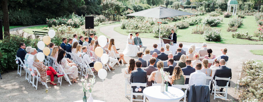Huwelijksceremonie Rosarium