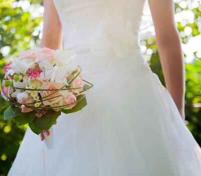 Beispiel: Hochzeitsflorisitk, Foto: Toifl Blumen.