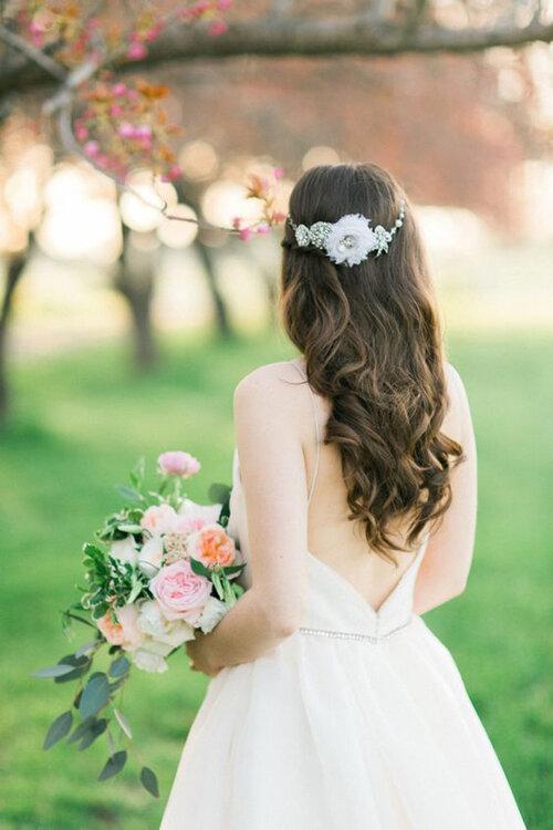 Peinados De Novia Con Pelo Suelto Al Natural - Pelo-suelto-novias