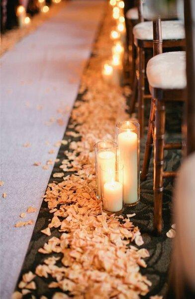 Uma Decora 231 227 O Rom 226 Ntica Para O Seu Casamento Com P 233 Talas De Rosa