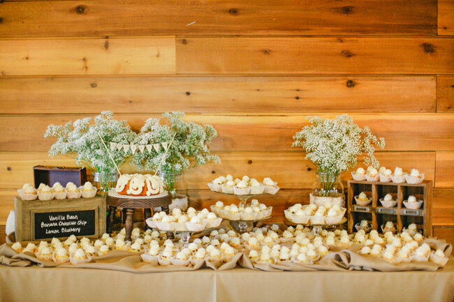 Las 30 mesas de postres m s originales para tu boda for Mesa de dulces para boda