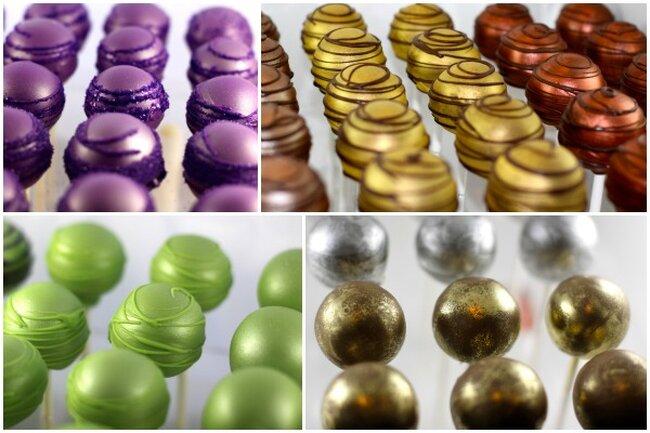 Metaliczne kolory na ślubie, Foto: Cake Central