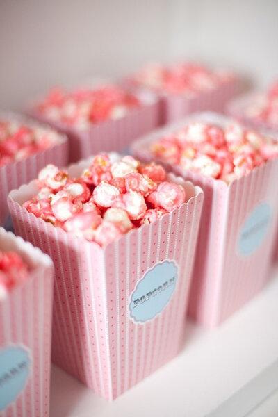 Des pop-corn roses pour un mariage qu'on ne risque pas d'oublier
